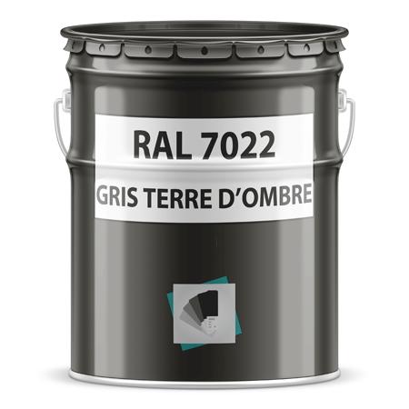 RAL 7022 gris terre d'ombre - Pot ou bombe peinture ral